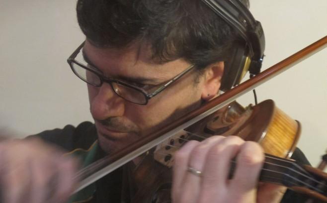 Guillermo Rubino recording Tango Project Loca Bohemia in Buenos Aires.