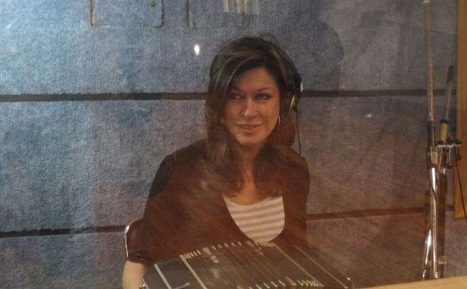 Maggie Ferguson recording Tango Project Loca Bohemia in Buenos Aires.