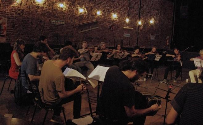 Orquesta Escuela de Tango Emilio Balcarce 2014 at Cafe Vinilo