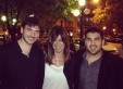 Federico Santisteban, Maggie Ferguson and Santiago Polimeni in La Plata.